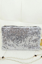 Silver Sequin Aristocratic Clutch Bag