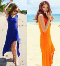 New summer beach dresses sexy long dress
