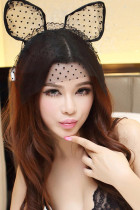 Dotted Mesh Cat Ear Headband