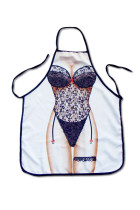Sexy Black Lace Teddy Print Funny Kitchen Apron