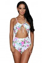 Delightful Bloom Cutout One Piece Swimsuit