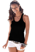 Black Knot Back Casual Tank Top