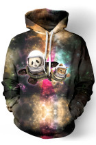 Astronaut Pals Funny Print Hoodie