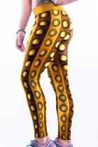 Gold Cool 3D Print Yoga Leggings
