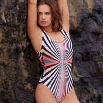 Wholesale One-piece Stripe Swimsuit Sexy Women Swimwear