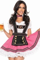 Plus Size 4PC Sweet Flirting Beer Babe Costume