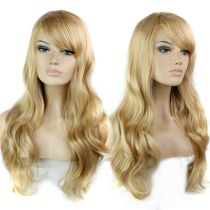 Fashion Gold Big Wave Wigs Long Hair Wholesale