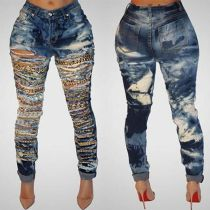 Hot Style Hole Jeans Fashion Women Jeans