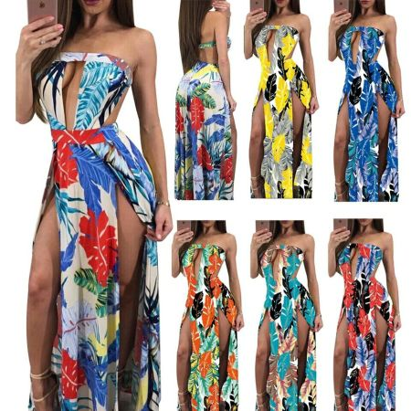 Sexy Style Long Dress Women Off Shoulder Beach Summer Dress Floral Print Vintage Maxi Party Dress Vestidos De Festa