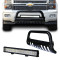 Black Bull Bar CHEVY Silverado 07-13 Bumper Grille Guard + 20inch 4D Lens 126W Cree LED Light