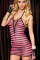 Pink and Black Lace-Up Chemise L2067