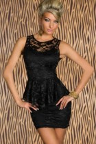 Peplum Mini Dress L2263