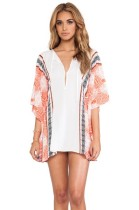 Sexy Batwing Sleeve Crochet Cover-ups Beach Dress L38254