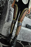 Fishnet Lace Bullet Beaded Embellished Leggings L9655