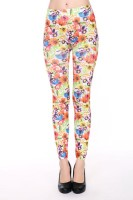 New Flower Print Seamless Leggings L97025