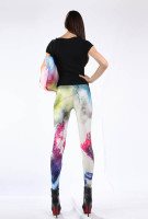 Multicolored Fancy Galaxy Leggings L8715