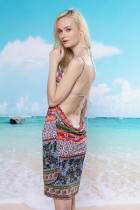 National Pattern Beach Cover-up L3734