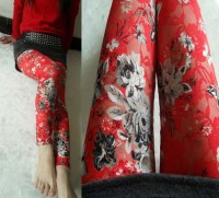 Red Lace Leggings L9484