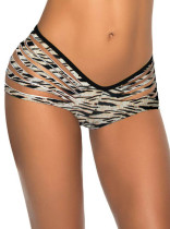 Stylish Zebra Printed Scrunch Bottom L91290-7