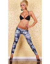 Legging Pants Jeans Flower L9403