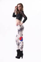 South Korea  Flag Print Tight Pant L8763