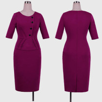 Elegant Office Peplum Dresses L36001-1