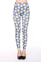 Flower Print Seamless Leggings L97023