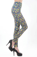 Small Yellow Flowers Print Legging L9594