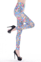Newest Flower Pattern  Leggings L9625