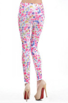 Colorful Flower Pattern Sexy Leggings L9617