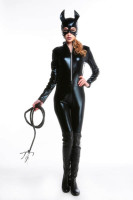 Sexy Latex PVC Wetlook Catsuit Jumpsuit Costume