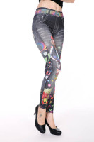 Fashion Girl Print Sexy Seamless Leggings L97032-1