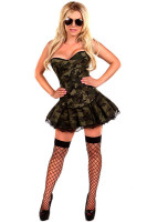 Women 3 Piece Sexy Army Girl Costume L15325