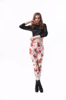 Spain  Flag Print Tight Pant L8775