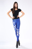 Blue White  Fancy Galaxy Leggings L8703