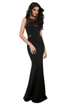 Black Sleeveless Evening Dress L51156