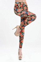 Flower Pattern Sexy Leggings L9618