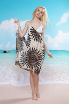 Big Sunflower Beach Cover-up L3726