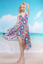 Cheerful Floral Beach Cover-up Rhodo L3750-3