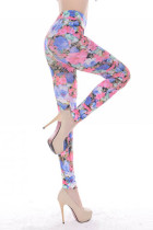 Big Flower Pattern Sexy  Leggings L9630