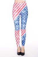 Flag Print Seamless Leggings L97026