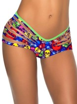 Stylish Colorfull Skull Printed Scrunch Bottom L91290-6