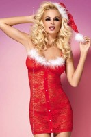 Obsessive Xmas Chemise With Hat L70903