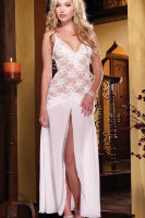 Lace and Chiffon Gown L5091-3