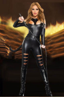 Sexy Black Catsuit L6075