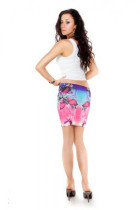Sexy Women Butterfly Print High Stretchy Mini Skirt Bodycon Club