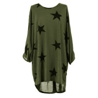 Quirky Batwing Long Sleeve Star Print Tunic Jumper Dress 28238-6