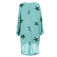 Quirky Batwing Long Sleeve Star Print Tunic Jumper Dress 28238-4