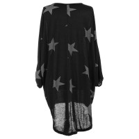 Quirky Batwing Long Sleeve Star Print Tunic Jumper Dress L28238-1