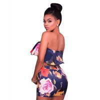 Damla Navy Floral Two Piece Set 282421-1